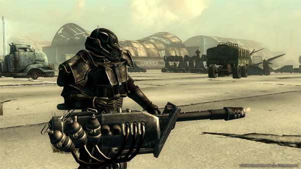 One of the new types of Enclave soldiers in the game, carrying a new weapon - the Heavy Incinerator.