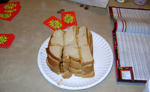 The Official Gencon Sandwich of PNG:  The Peanut Butter & JELLY Sandwiched Sandwich