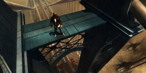 You can not commit suicide by bridge jumping in the game.  Sorry