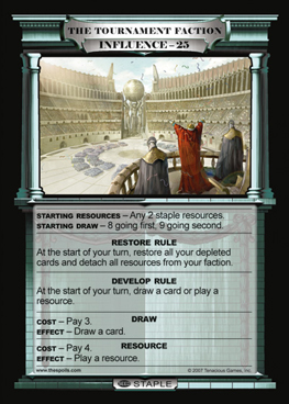 Faction Card... protect it with your life.