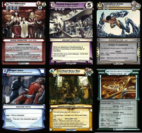 Examples of different Trades and cards